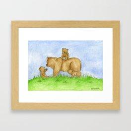 Bear Adventures Framed Art Print