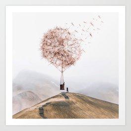 Flying Dandelion Kunstdrucke