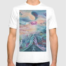 Divine Sacred Union MEDIUM Mens Fitted Tee White