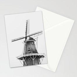 Dutch Windmill | Friesland, The Netherlands | Black & White | Travel Photography | Fine Art Photo Print Stationery Cards