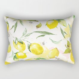 Watercolor lemons Rectangular Pillow