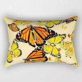 SOFT YELLOW & ORANGE MONARCH BUTTERFLIES MELANGE Rectangular Pillow