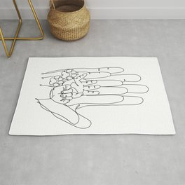 Family Hands and Tow Dog Paws IV Rug