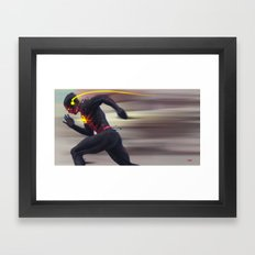 Reverse Flash Framed Art Print