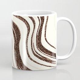 Textured Marble - Brown & Cream Coffee Mug