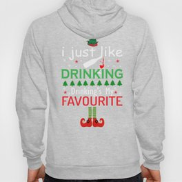 I Like Drinking Christmas Elf XMAS Elves product Hoody