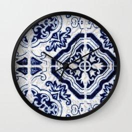 Azulejo VI - Portuguese hand painted tiles Wall Clock