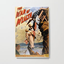 Vintage poster - The War of Wealth Metal Print