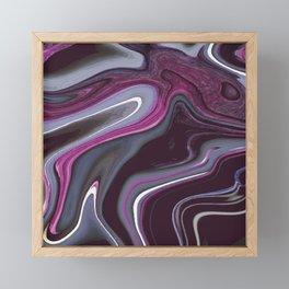 Purple Marbling 002 Framed Mini Art Print