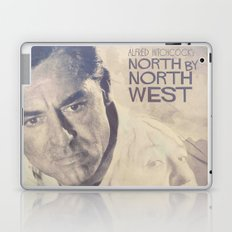 North by Northwest, Alfred Hitchcock, vintage movie poster, Cary Grant, minimalist Laptop & iPad Skin