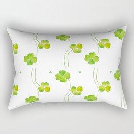 green clover leaf pattern watercolor Rectangular Pillow