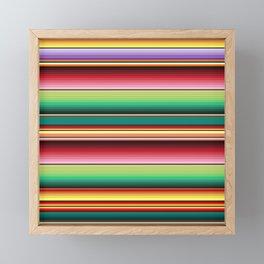 Mexican Textile Fabric Pattern  Framed Mini Art Print