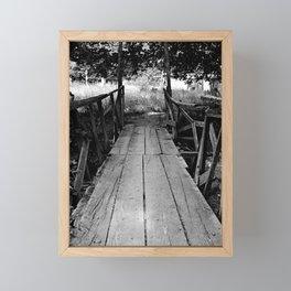 Wooden Bridge in BW Framed Mini Art Print
