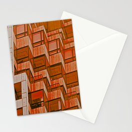 Architectural Abstract in Red Stationery Cards