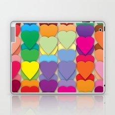 Colored Hearts Laptop & iPad Skin
