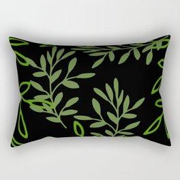 Leafy Green Rectangular Pillow