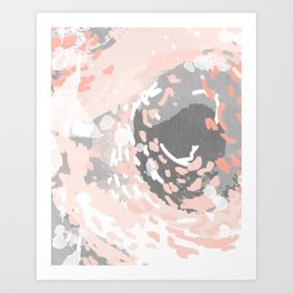 Penny - millennium pink and grey abstract canvas large art decor dorm college nursery Art Print