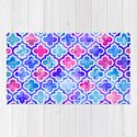 Watercolor Moroccan Print Pinks and Blues by patriciaroberta