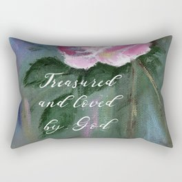 Treasured and Loved by God Rectangular Pillow