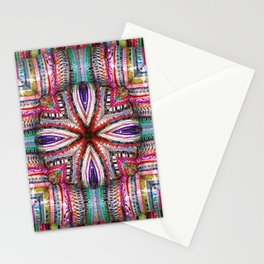 number 323 multicolored purple green red yellow Stationery Cards