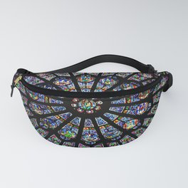 Notre Dame stained glass Fanny Pack