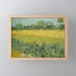 Field with Flowers near Arles by Vincent van Gogh Framed Mini Art Print