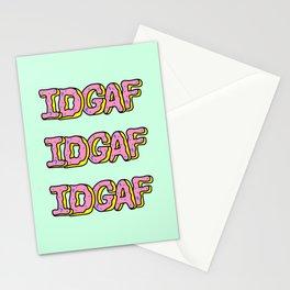 IDGAF Pink Donuts Stationery Cards