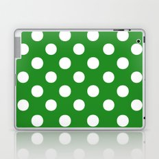Polka Dots (White/Forest Green) Laptop & iPad Skin