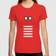 Where's Waldo Minimalism SMALL Womens Fitted Tee Red