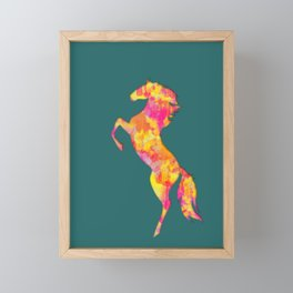 Fire Horse Silhouette Framed Mini Art Print
