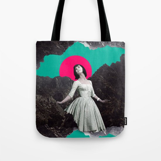 Between a rock and a hard place. Tote Bag
