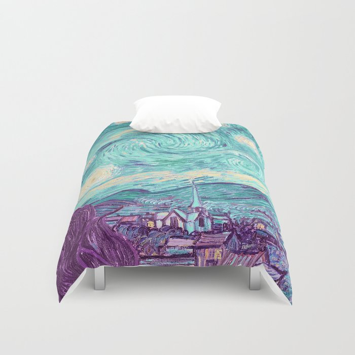 Pastel Starry Night Duvet Cover By Histrionicole Society6