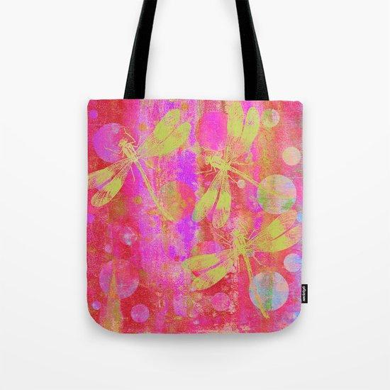 A Dragonflies and Dots Q Tote Bag