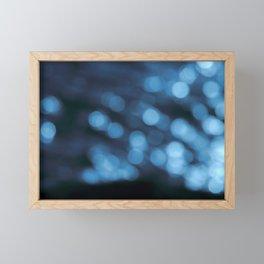 Dublin Bay Waves, Poolbeg (Bokeh Abstract Exposure) Framed Mini Art Print