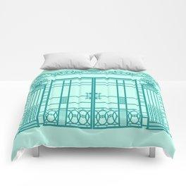 ART DECO, ART NOUVEAU IRONWORK: Blue Green Dream Comforters