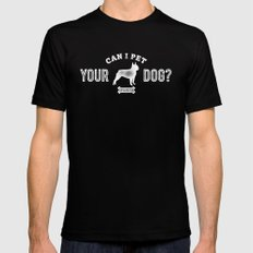 Can I Pet Your Boston Terrier? Mens Fitted Tee Black MEDIUM