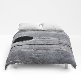Hole in the tree trunk Comforters
