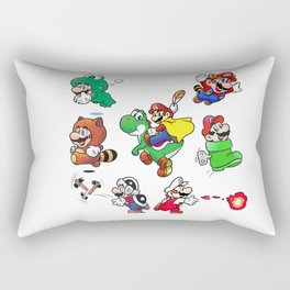 Old School Marios Rectangular Pillow