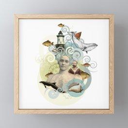 Sea, woman, love Framed Mini Art Print