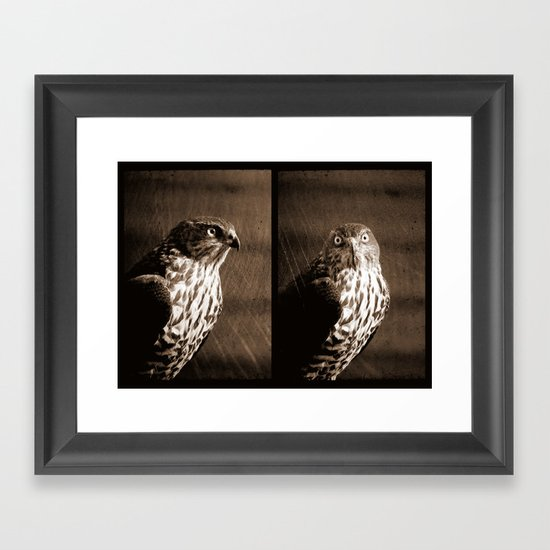 Portrait of a Predator - Diptych Framed Art Print