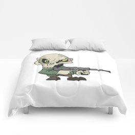 Cute mini skull gangster Comforters
