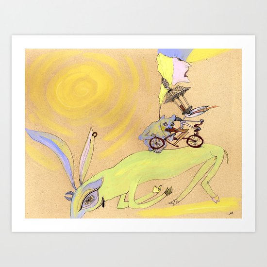 sketchbook page Art Print