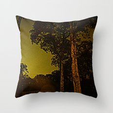 Blackened October Sunfall Throw Pillow