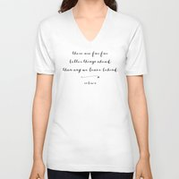 pocketfuel V-neck T-shirts featuring BETTER THINGS - B & W by Pocket Fuel
