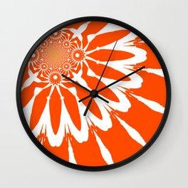 The Modern Flower Orange Wall Clock