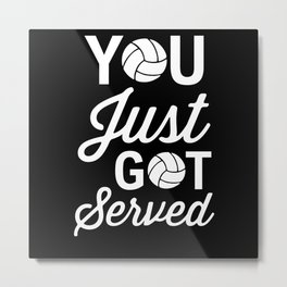 Volleyball Volleyball Player Metal Print
