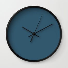 Sherwin Williams Trending Colors of 2019 Endless Sea Blue SW 9150 Solid Color Wall Clock