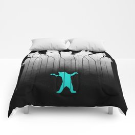 Clowder (White, without lines) Comforters