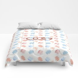 cozy print with sweaters Comforters
