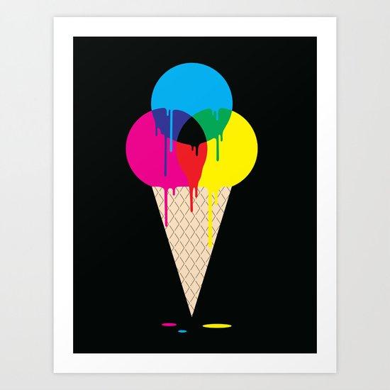 CMYKream Art Print